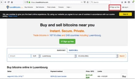 signup localbitcoin