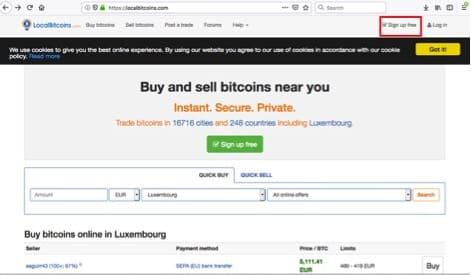 signup localbitcoin