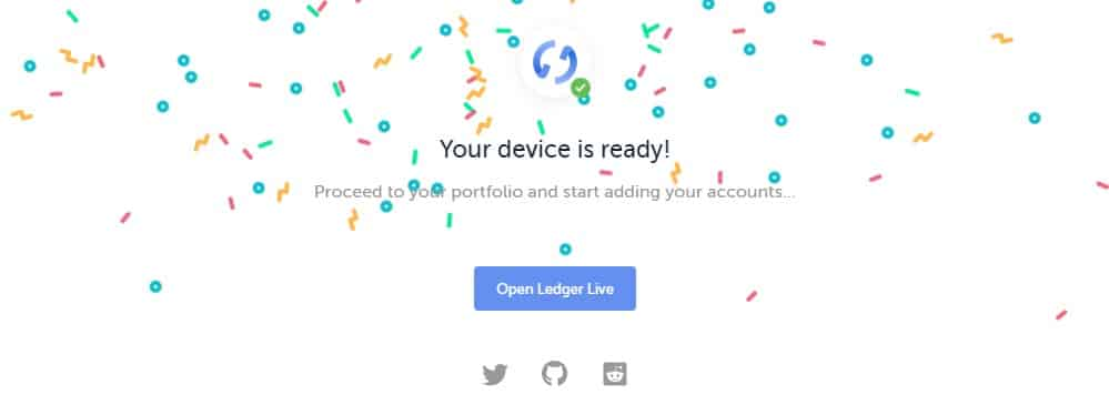 Ledger Nano - Ledger is Live